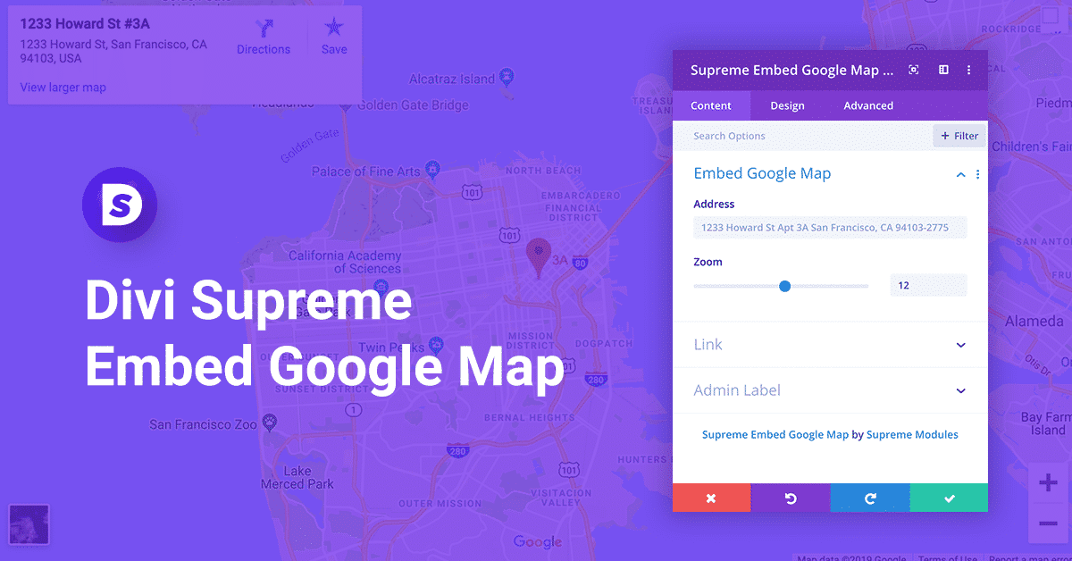 Divi Embed Google Map