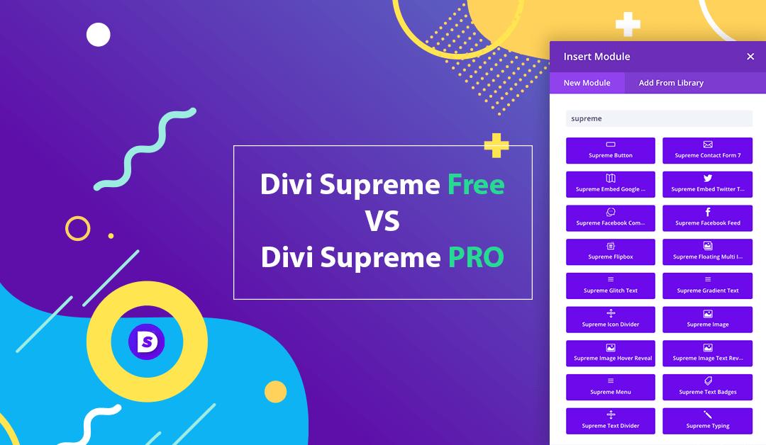 Divi Supreme Free vs Divi Supreme Pro – What are the differences?