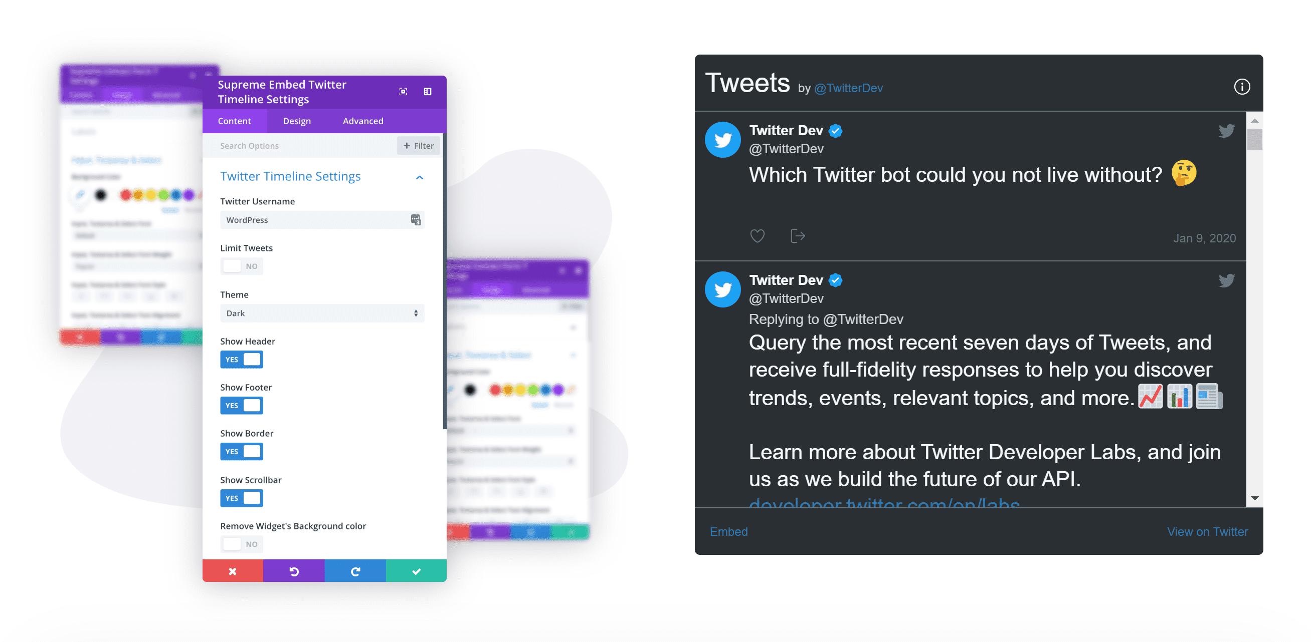 Embed Twitter Timeline Module