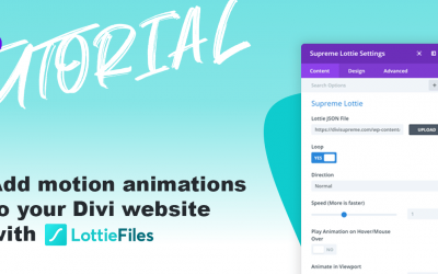 How to add Motion Animations to your Divi website with LottieFiles
