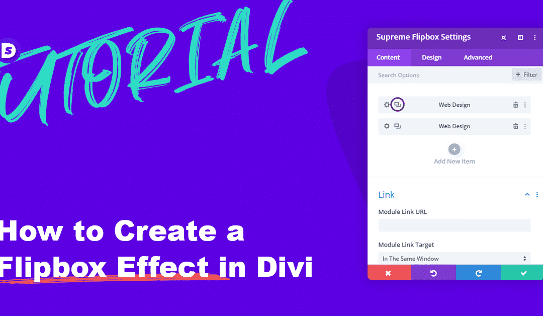 How to create a Flip box Effect in Divi