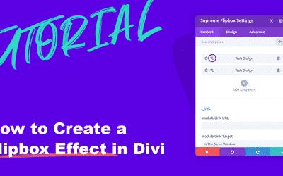 How to create a Flip box Effect in Divi
