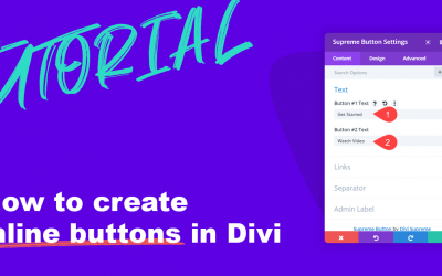 How to create inline buttons in Divi