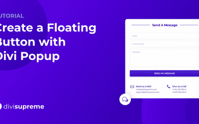 Create a Floating Button with Divi Popup
