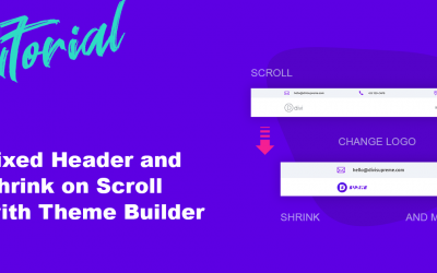 How to create a Fixed Header and Shrink on Scroll with Divi Theme Builder
