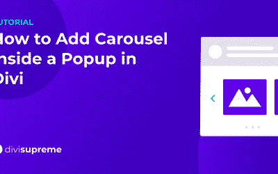 How to Add Carousel Popup in Divi
