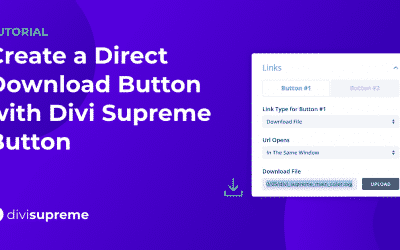 How to Create a Direct Download Button with Divi Supreme Button Module