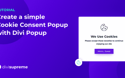 How to Create a Cookie Consent Popup using Divi Popup Extension