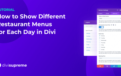 How to Show Different Restaurant Menus for Each Day in Divi