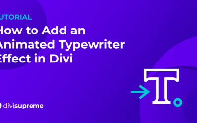 How to Add an Animated Typewriter Effect in Divi