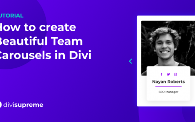 How to create Beautiful Team Carousels in Divi