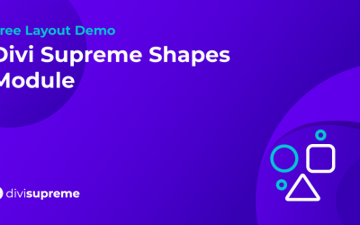 Free Layout Demo: Divi Supreme Shapes Module