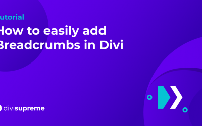 How to easily add Breadcrumbs in Divi