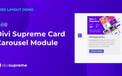 Free Layout Demo: Divi Supreme Card Carousel Module