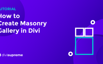 How to Create Masonry Gallery in Divi