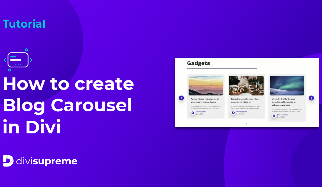 How to create Blog Carousel in Divi