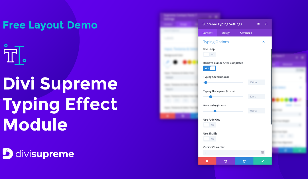 Free Layout Demo: Divi Supreme Typing Effect Module