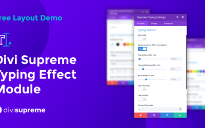 Free Layout Demo: Divi Supreme Typing Effect Module