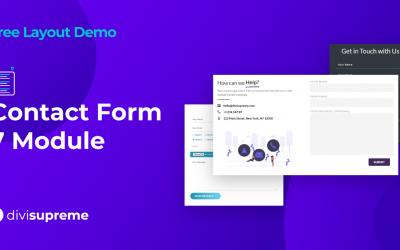 Free Layout Demo: Divi Supreme Contact Form 7 Module