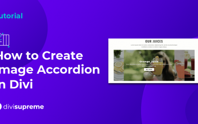 How to create Image Accordion in Divi
