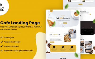 Divi Cafe Landing Page