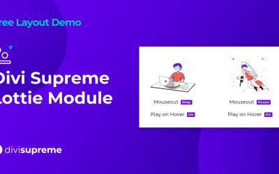 Free Layout Demo: Divi Supreme Lottie Module