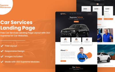 Divi Car Services Landing Page