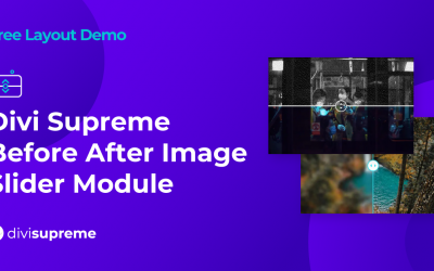 Free Layout Demo: Divi Supreme Before After Image Slider Module