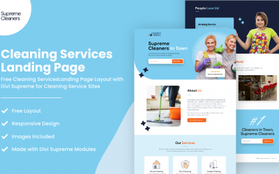 Divi Cleaning Services Landing Page