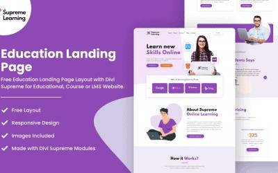 Divi Education Landing Page