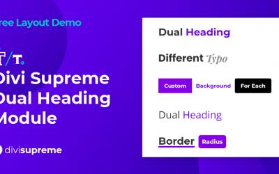Free Layout Demo: Divi Supreme Dual Heading Module