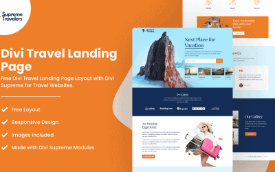 Divi Travel Landing Page