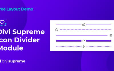 Free Layout Demo: Divi Supreme Icon Divider Module