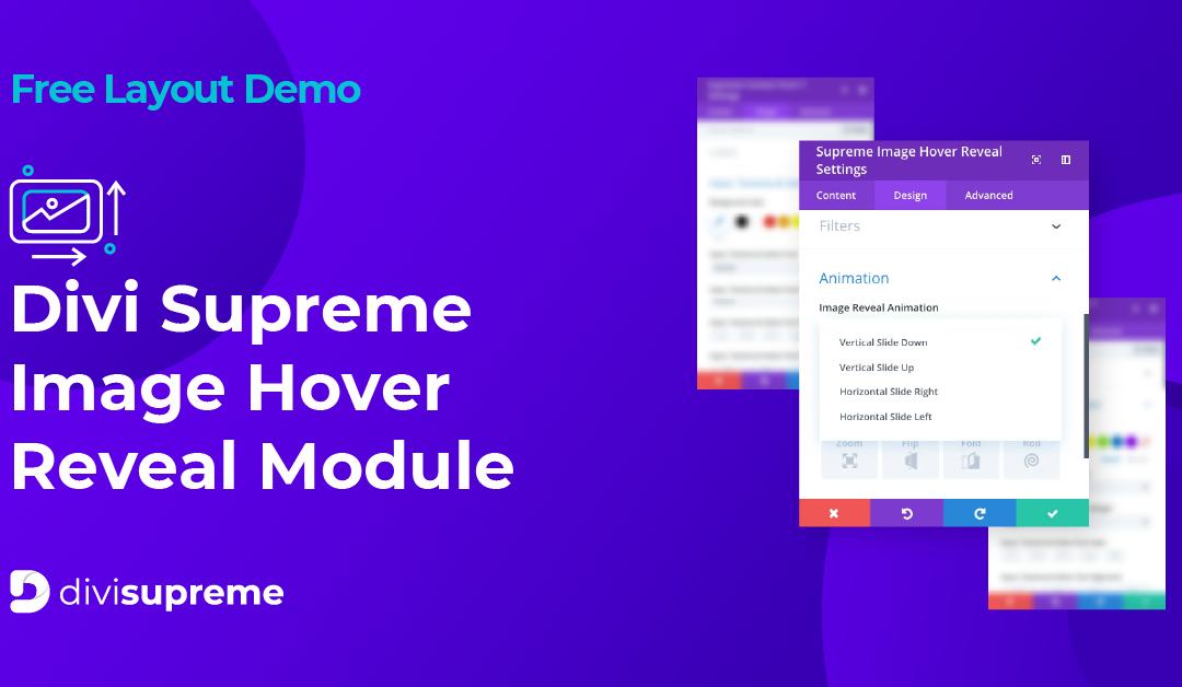 Free Layout Demo: Divi Supreme Image Hover Reveal Module