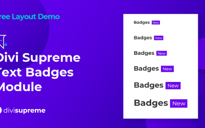Free Layout Demo: Divi Supreme Text Badges Module