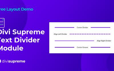 Free Layout Demo: Divi Supreme Text Divider Module