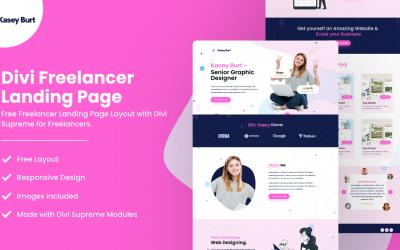Divi Freelancer Landing Page