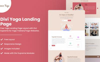 Divi Yoga Landing Page