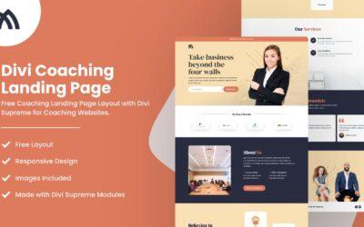 Divi Coaching Landing Page
