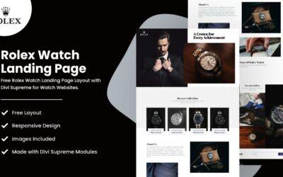 Rolex Watch Landing Page